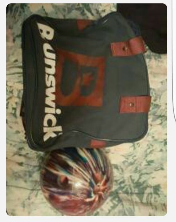used 8lb bowling ball and carrying bag for sale in holland letgo