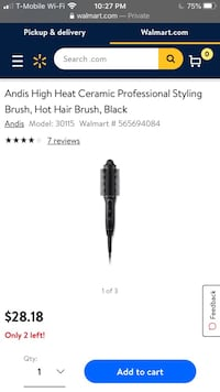 ANDIS professional ceramic hot styling brush