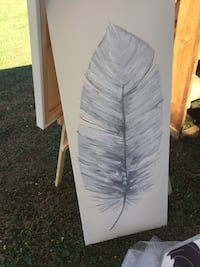 Feather Painting on Canvas Douro-Dummer, K0L