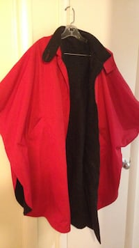 Red and dark grey reversible rain cape with hood new Woodbridge, 22192