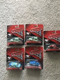 Disney Cars Diecast Vehicles. Hard to find in stores. All brand new and unopened. One of them is duplicate.  $10 Each or $40 for all. 365 mi