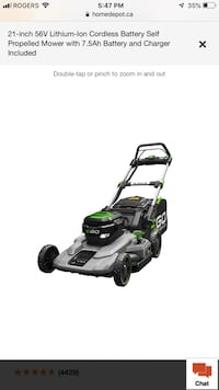 black and green push mower 555 km