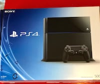 Sony ps4 console like new with controller & few games