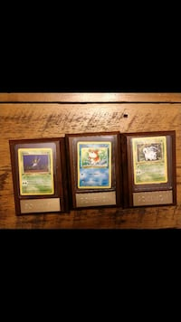Pokemon cards in wood plaque Almont, 48003