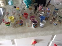 49 shot glasses.  Great for a bar or a collector.  Only used for display Toronto, M6G 3G9