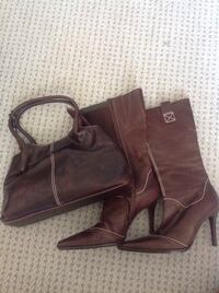 Pair of brown leather boots Ottawa, K1K 0S1