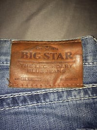 Blue big star denim bottoms