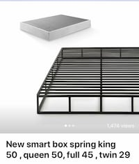 New smart box spring queen $50, king $50, full $40, twin $30 Columbus, 43228