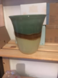 Tall green vase candle holder-partylite  Montréal, H9A