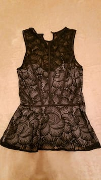 NEW! Official black top Size 2(XS) lace