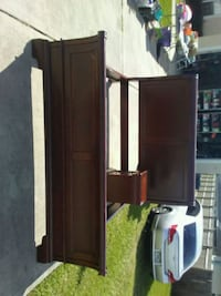brown wooden desk with hutch Ocala, 34472