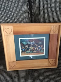 Wooden picture frame with bears picture  Douro-Dummer, K0L