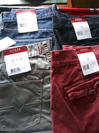 black and red denim jeans Brooklyn, 11233
