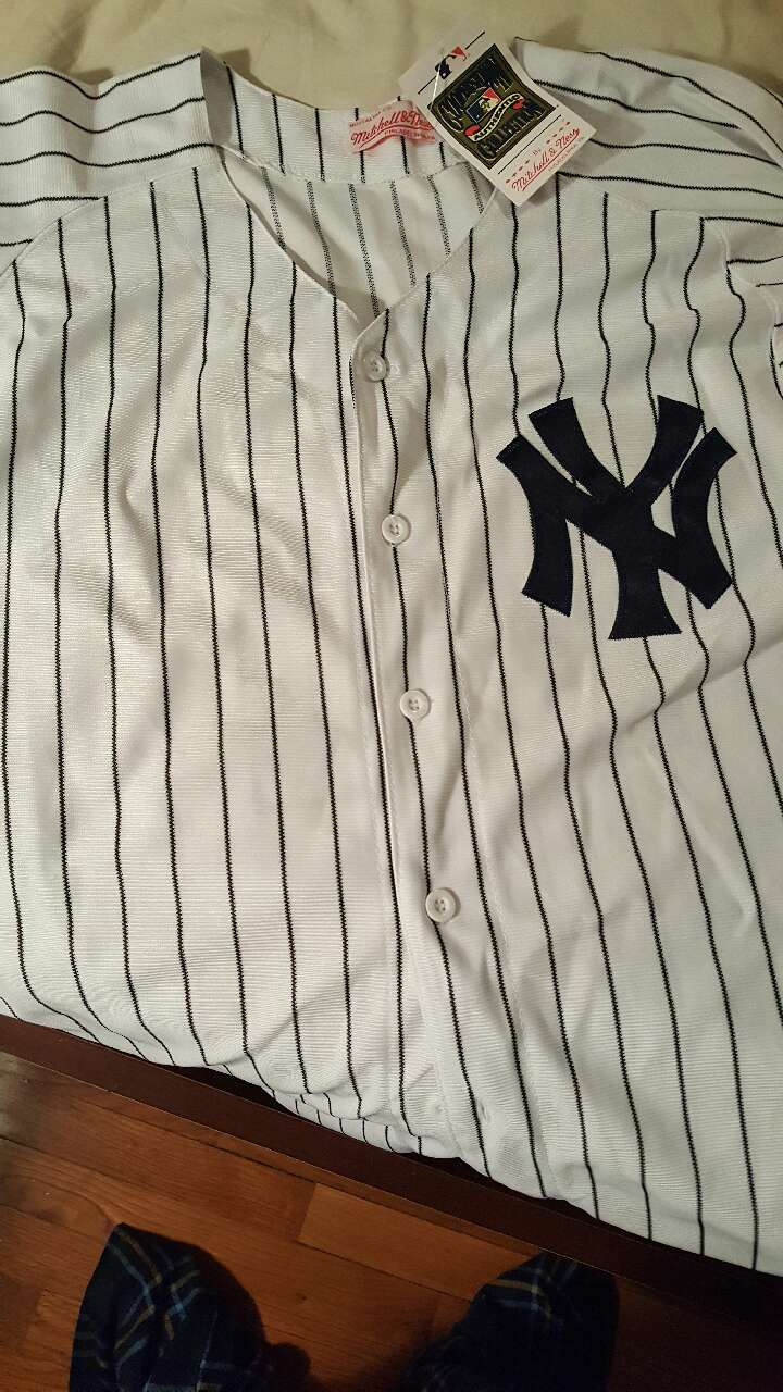 fbec75d54 ... used ny yankee reggie jackson 44 jersey..size 52 for sale in plainview