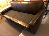 Free Pottery Barn leather couch  Somerville, 02143