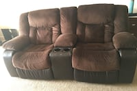 Brown suede 2-seat recliner sofa 60 km