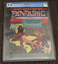 Fantastic #21, UK Pence Tales of Suspense #52 1st Black Widow CGC 7.5 Very Fine - RARE! Stockton, 95215