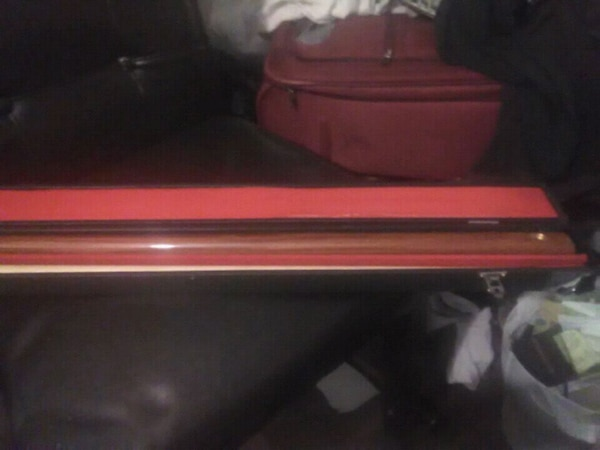 red and black plastic case