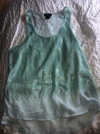 Blue chiffon sparkle shirt Welland, L3B 1L4