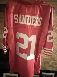 red and white Sanders 21 jersey shirt Fox Lake, 60020