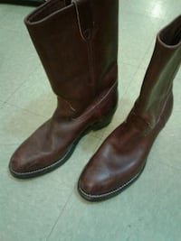 pair of brown leather cowboy boots Vancouver, V6B 0G6