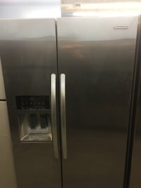 Stainless Steel SIDE-BY-SIDE KITCHENAID REFRIGERATOR with dispenser 549 km