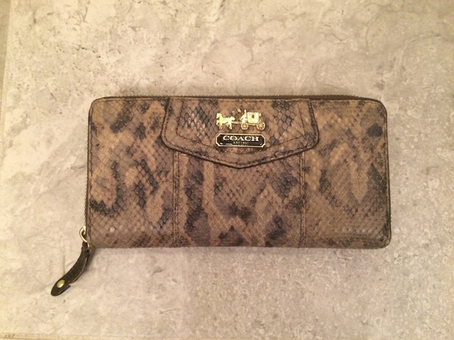 get coach textured leather shoulder bag 73421 dddf0  where to buy brown  coach snakeskin wallet 80c3e 633c3 c1ff4d4acb9a0
