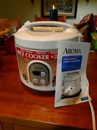 white and gray Aroma rice cooker Thousand Oaks, 91360