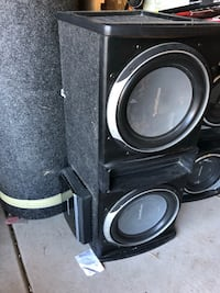 Rockford fosgate subs and box no amp Reno, 89506