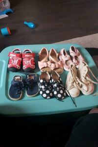 Various shoes ranging from 5c to 8c Kitchener