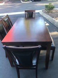 rectangular brown wooden table with chairs Phoenix, 97535