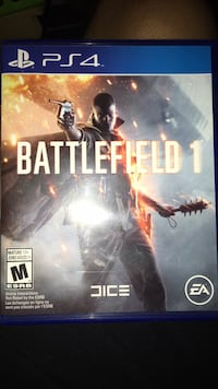 Battlefield 1 PS4 game case
