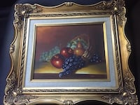Antique still life oil painting by Herman in ornate gold frame Torrance, 90505