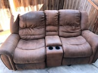 brown leather home theater sofa Compton, 90220