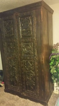 Hand carved exotic armoire very heavy Saginaw, 48601