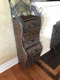Pier One Metal wicker six drawer custom shelf  Oakville, L6J