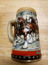 1988. Collectible  Holiday Clydesdales stein mug Las Vegas, 89145