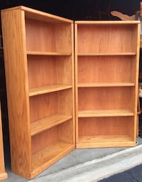 Oak Bookcase / Bookshelf pair by Thornwood Lakeville, 55044