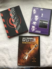 Music DVD's: U2 & Led Zeppelin Edmonton, T5K 1T6