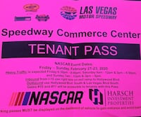 2 Nascar 3 Day Parking Passes $350 each OBO Las Vegas, 89106