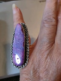 ring with large purple natural Stone Somerville, 02145