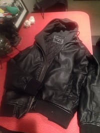 Billabong hooded faux leather jacket. Brand new only worn a few times. Vancouver, V5L 4X9