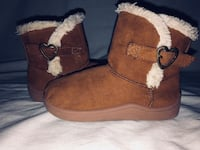 8c Brown/Wool Winter Boots Children's