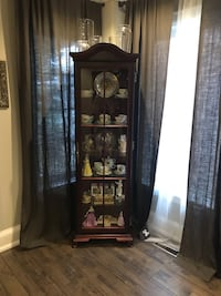 brown wooden framed glass display cabinet Vaughan, L4H 1S6