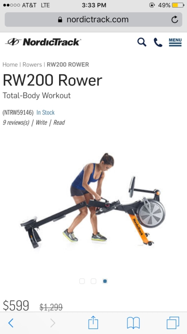 Rowing Machine For Sale >> Used Nordic Track Rowing Machine Rw200 Used For Sale In Thousand
