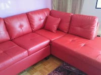 red leather tufted sectional sofa Montréal, H3J 1J8