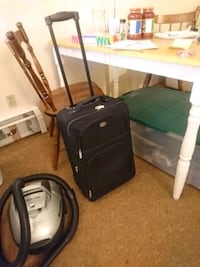 black luggage 2 wheel carry on  Delta, V4C