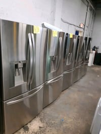 STAINLESS STEEL FRENCH DOORS FRIDGES WORKING PERFECTLY  Baltimore, 21201