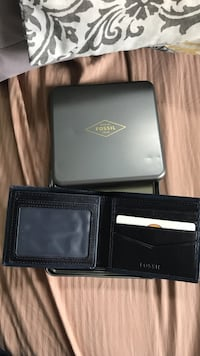 Fossil Wallet Blue Leather