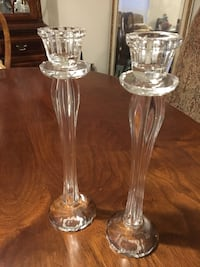 Mikasa Glass Candle Holders